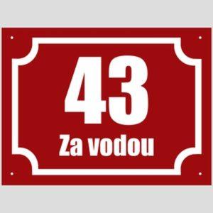číslo popisné červená klasika