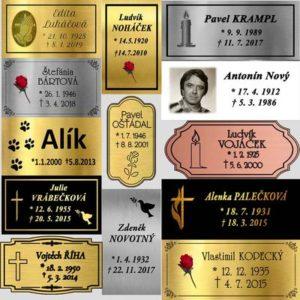 urnové štítky